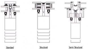 Tamplarie aluminiu - sisteme pereti cortina - sectiune